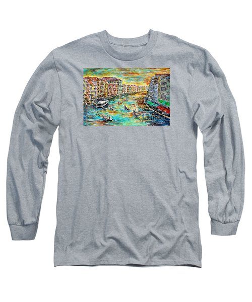 Long Sleeve T-Shirt featuring the painting Recalling Venice by Alfred Motzer