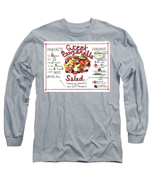 Recipe- Panzanella Salad Long Sleeve T-Shirt