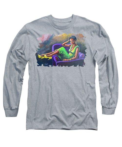 Reclining Beauty Long Sleeve T-Shirt
