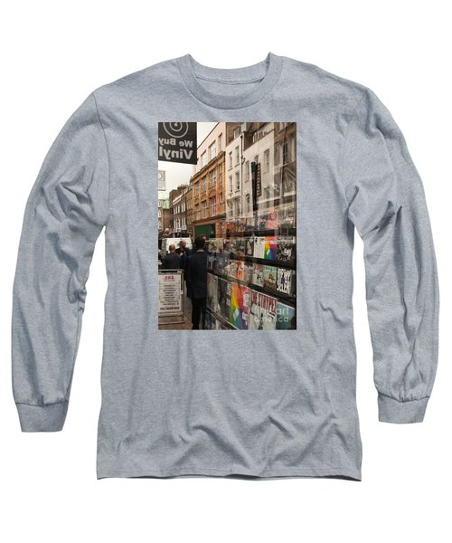 Records Store Windows Reflection  Long Sleeve T-Shirt