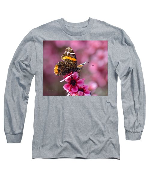 Red Admiral Butterfly Long Sleeve T-Shirt