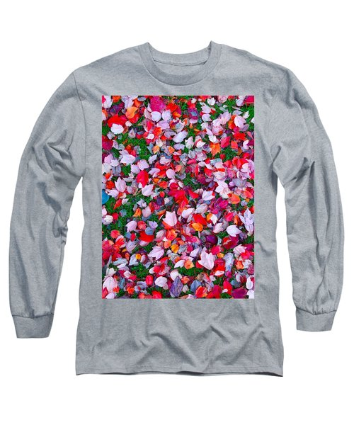 Red And Green Leaves Long Sleeve T-Shirt