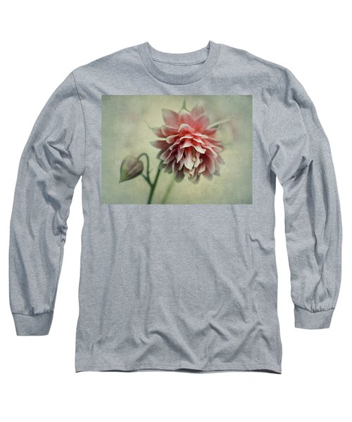 Red And Pink Columbine Long Sleeve T-Shirt