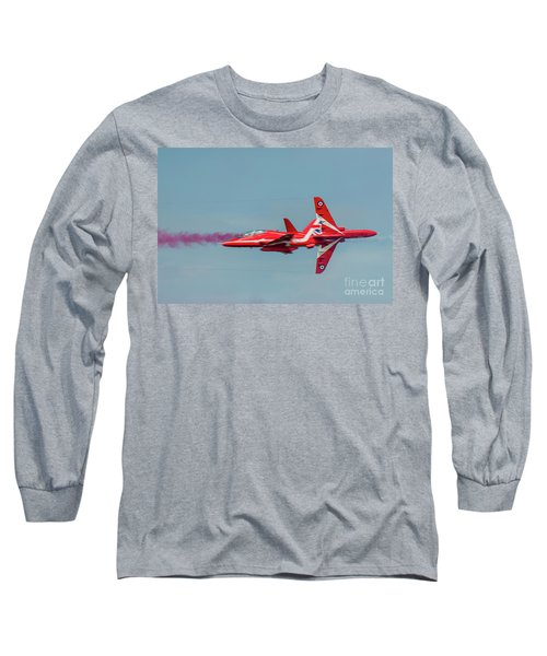 Long Sleeve T-Shirt featuring the photograph Red Arrows Crossover by Gary Eason