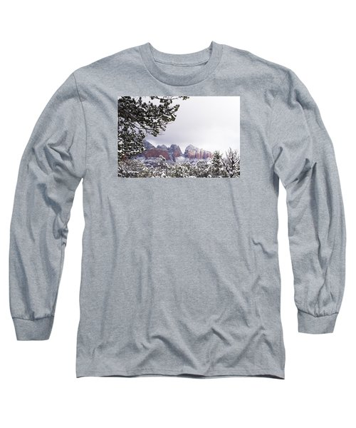 Long Sleeve T-Shirt featuring the photograph Red Beats White by Laura Pratt