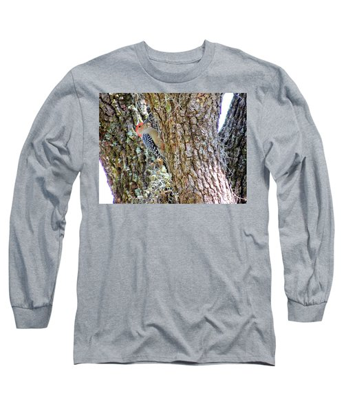 Long Sleeve T-Shirt featuring the photograph Red-bellied Woodpecker By Bill Holkham by Bill Holkham