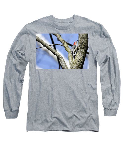 Long Sleeve T-Shirt featuring the photograph Red-bellied Woodpecker by Gary Wightman