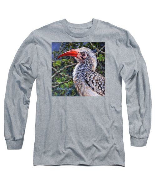 Red Billed Hornbill Long Sleeve T-Shirt