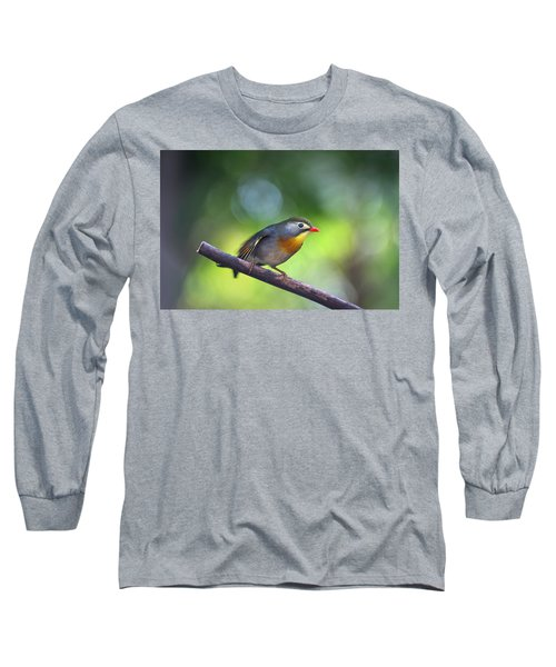 Red Billed Leiothrix Long Sleeve T-Shirt
