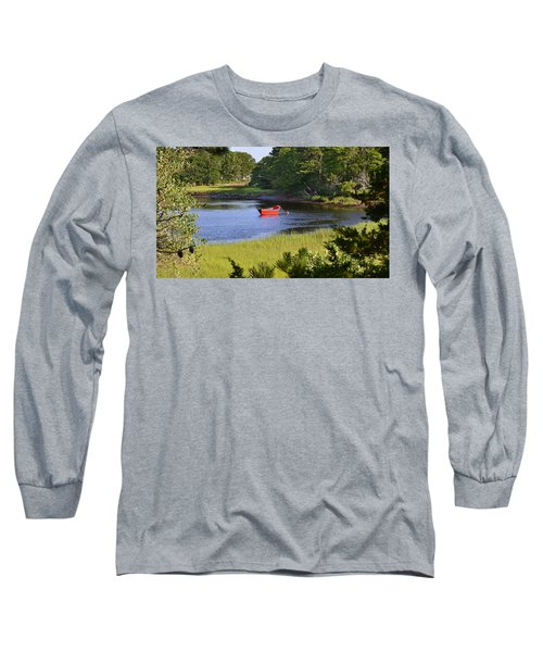 Red Boat On The Herring River Long Sleeve T-Shirt