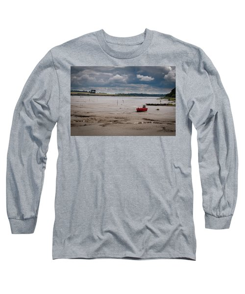 Red Boat On The Mud Long Sleeve T-Shirt
