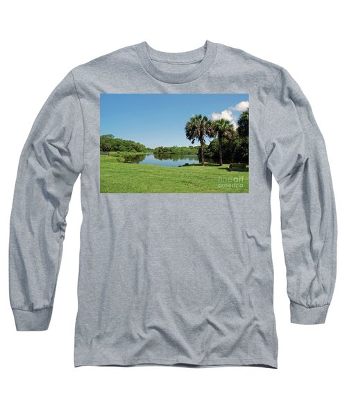 Long Sleeve T-Shirt featuring the photograph Red Bug Slough by Gary Wonning