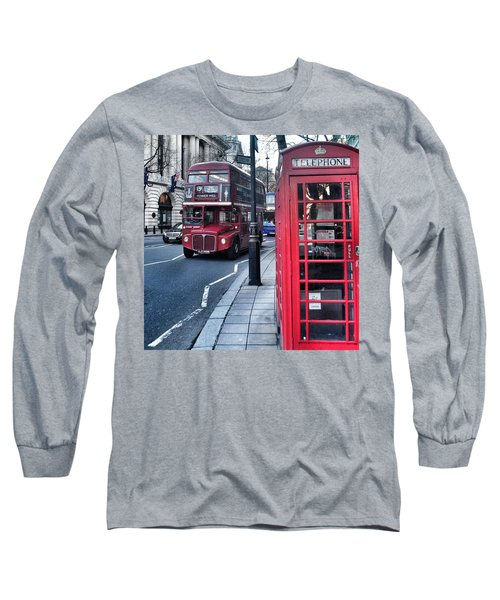 Red Bus In London  Long Sleeve T-Shirt