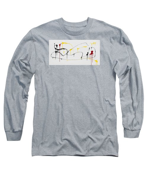 Red Chair Abstract Long Sleeve T-Shirt by Rich Franco