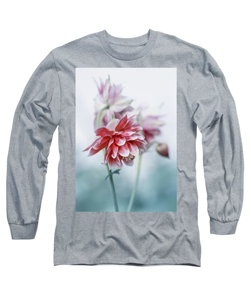 Long Sleeve T-Shirt featuring the photograph Red Columbines by Jaroslaw Blaminsky