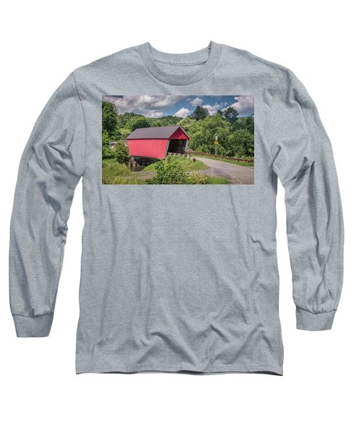 Red Covered Bridge Long Sleeve T-Shirt