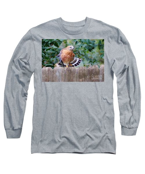 Red Crested Hawk Long Sleeve T-Shirt