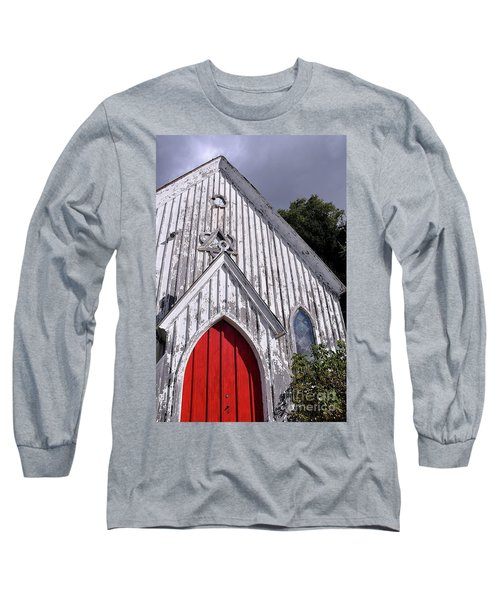 Red Door Long Sleeve T-Shirt by Gina Savage