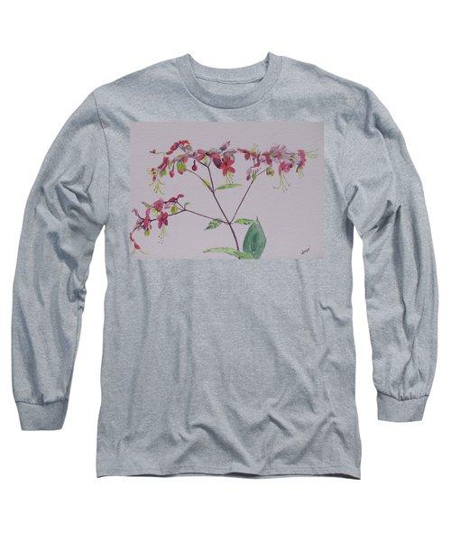 Red Flower Vine Long Sleeve T-Shirt