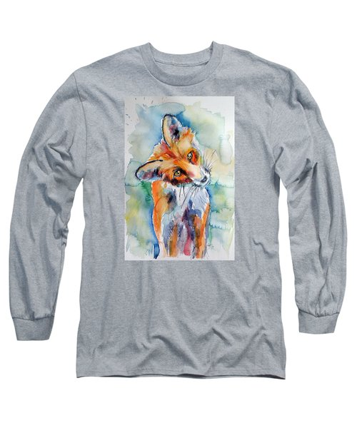 Red Fox Watching Long Sleeve T-Shirt