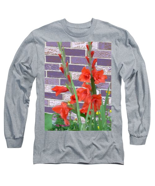 Red Gladiolas Long Sleeve T-Shirt
