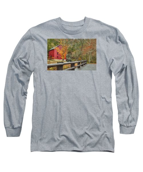 Red Grist Mill Front Entrance Long Sleeve T-Shirt