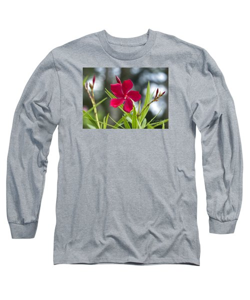 Red Hibiscus, Sri Lanka Long Sleeve T-Shirt