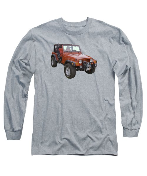 Red Jeep Wrangler Rubicon Long Sleeve T-Shirt