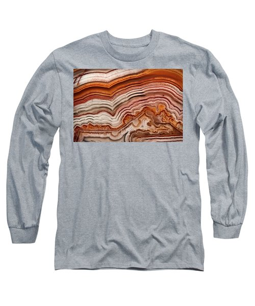 Red Laguna Lace Agate Long Sleeve T-Shirt