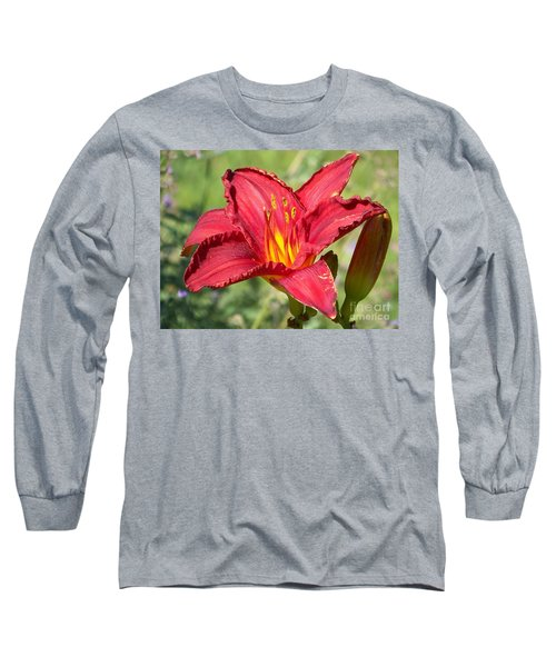 Long Sleeve T-Shirt featuring the photograph Red Flower by Eunice Miller
