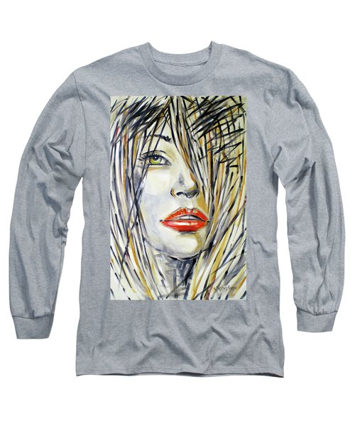 Red Lipstick 081208 Long Sleeve T-Shirt by Selena Boron