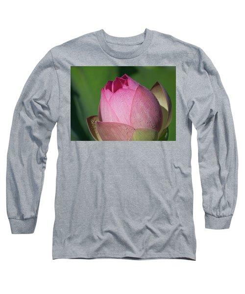 Red Lotus Blossom Long Sleeve T-Shirt