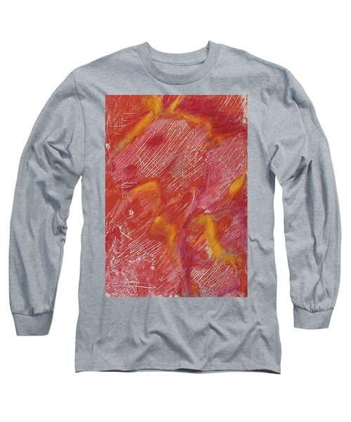 Red Monoprint One Long Sleeve T-Shirt