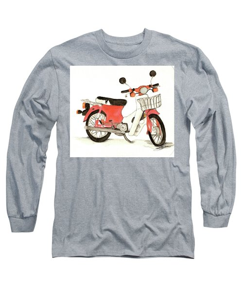Red Motor Bike Long Sleeve T-Shirt