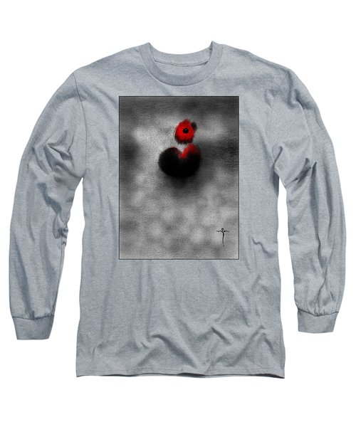 Long Sleeve T-Shirt featuring the digital art Red Mouse by James Lanigan Thompson MFA