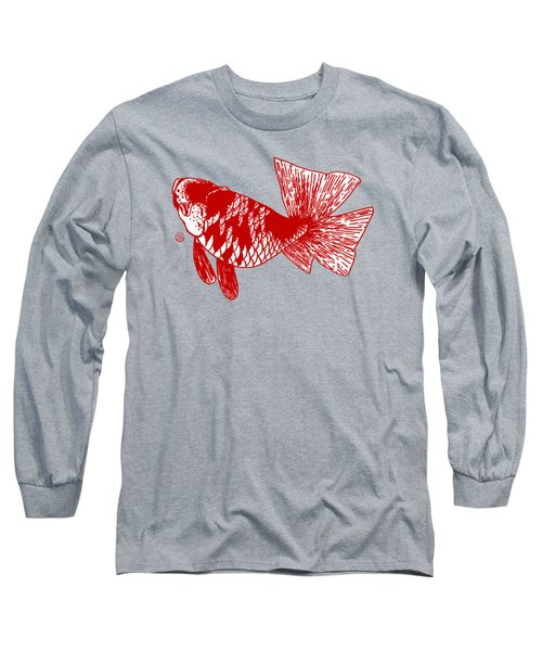 Red Ranchu Long Sleeve T-Shirt by Shih Chang Yang