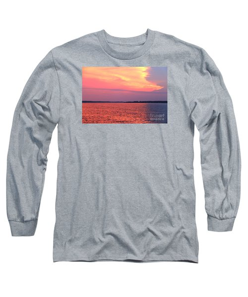 Red Reflection  Long Sleeve T-Shirt by Yumi Johnson