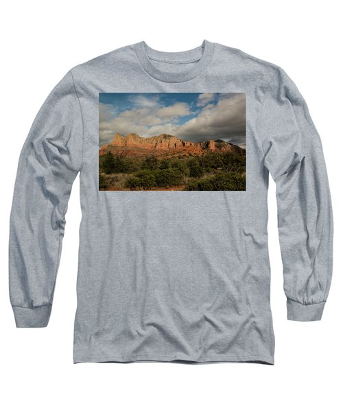 Red Rock Country Sedona Arizona 3 Long Sleeve T-Shirt by David Haskett