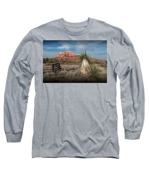 Long Sleeve T-Shirt featuring the photograph Red Rock Formation In Sedona Arizona by Randall Nyhof