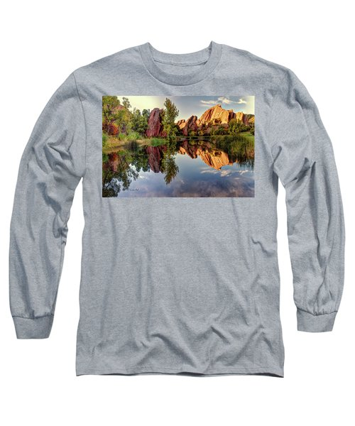 Red Rocks Reflection Long Sleeve T-Shirt