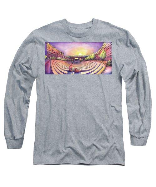 Red Rocks Sunrise Long Sleeve T-Shirt by David Sockrider