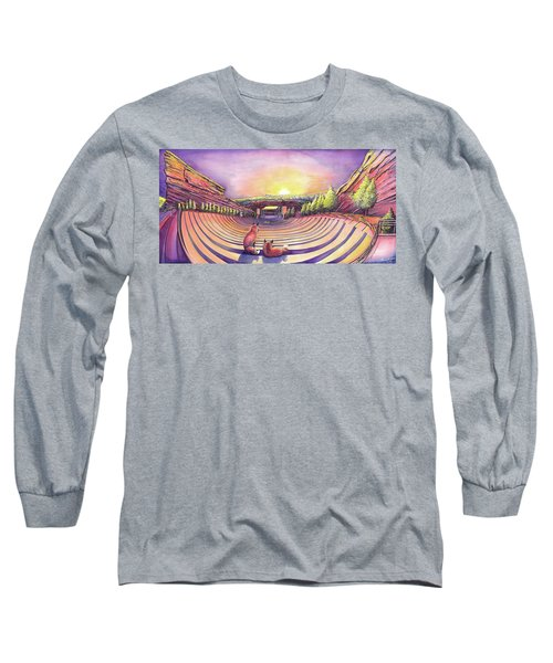 Foxes At Red Rocks Sunrise Long Sleeve T-Shirt