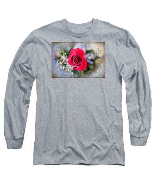 Red Rose Elegance Long Sleeve T-Shirt by Milena Ilieva
