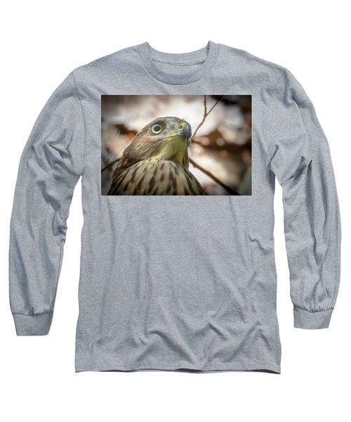 Red-shouldered Hawk Fledgling 3 Long Sleeve T-Shirt