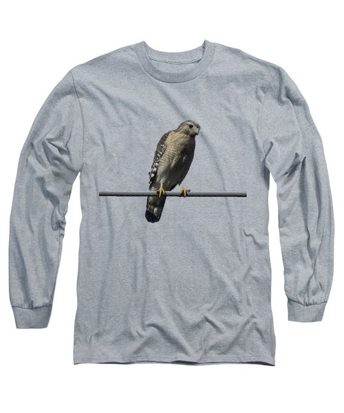 Red-shouldered Hawk Transparency Long Sleeve T-Shirt