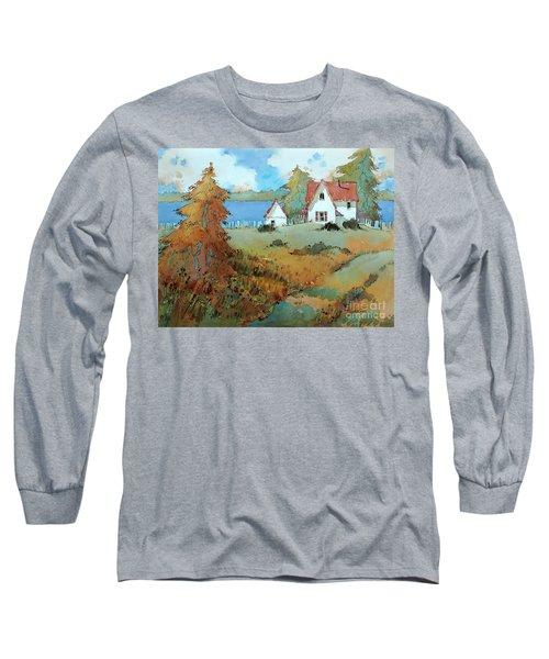 Red Shutters Long Sleeve T-Shirt