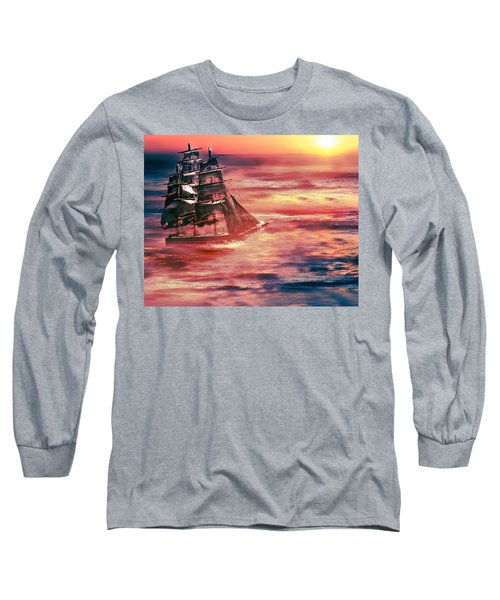 Red Sky In The Morning.... Sailors Take Warning Long Sleeve T-Shirt