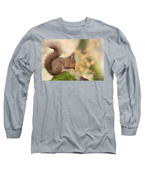 A Moment Of Meditation - Red Squirrel #27 Long Sleeve T-Shirt
