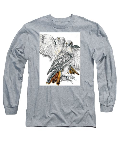 Red-tailed Hawk Long Sleeve T-Shirt by Barbara Keith