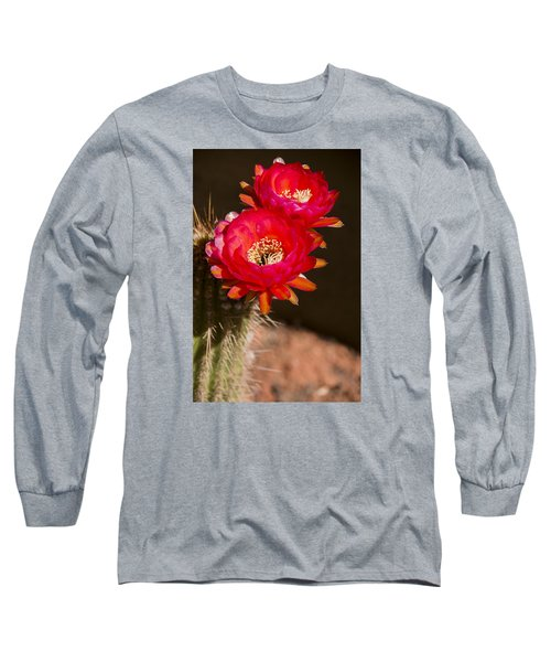 Long Sleeve T-Shirt featuring the photograph Red Tops by Laura Pratt
